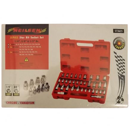 Star Bits Socket Set 35 Piece